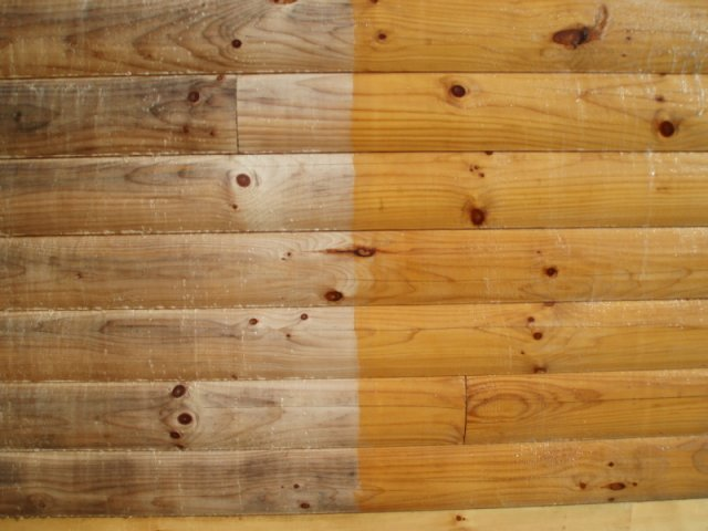 New Log Home Cleaning